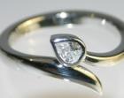 platinum rose bud inspired engagement ring