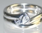 9ct white gold engagement ring with pear shaped diamond and fitted wedding band