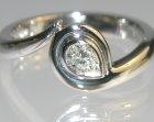 platinum wave inspiredengagement ring