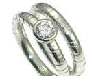 platinum solitaire diamond ring set inspired by meadow grasses