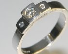 art deco inspired 18ct white gold and diamond engagement ring