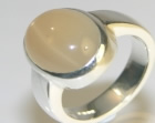 sterling silver and star moonstone dress ring