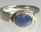 9ct yellow and white gold dress ring with the customer's own sapphire