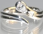 bespoke 9ct white gold and diamond balloon inspired engagement ring