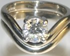 18ct white gold engagement and wedding ring