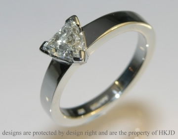 platinum engagement ring inspired by mountain climbing