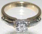 18ct yellow and platinum 0.06ct diamond engagement ring