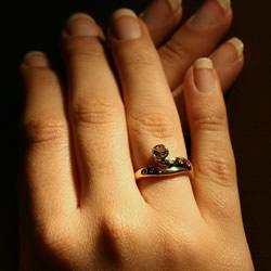 sun rise inspired engagement ring