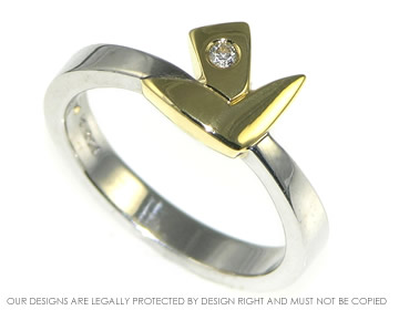 mixed gold colours diamond engagement ring inspired by daffodils