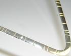 sterling silver timeline torque necklace