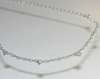 bespoke 9ct white gold necklace with brilliant cut h si diamonds totaling 0.44cts