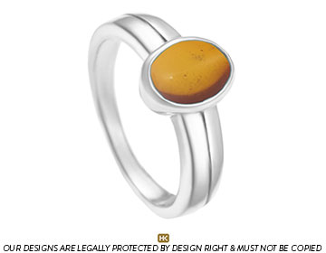 amber and sterling silver dress ring
