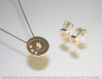 18ct rose and white gold pendant with customers own stones specifications mozeypictures Images