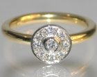 18ct yellow gold and platinum engagement ring with diamonds