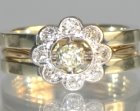 bespoke 9ct white gold cage style wedding ring