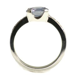 stunning pale blue sapphire and diamond white gold engagement ring
