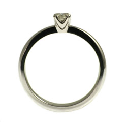 white gold 0.20cts engagement ring with recycled diamond