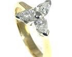 bespoke 18ct yellow gold and platinum diamond engagement ring