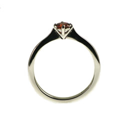0.25cts red heat-treated diamond engagement ring