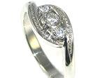 platinum engagement ring with three diamonds