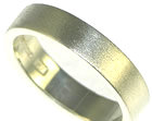 9ct white gold flat wedding band with a matte finish