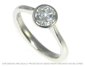 platinum open tipped 0.79cts e si1 diamond solitaire ring