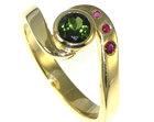18ct yellow gold bespoke tourmaline engagement ring