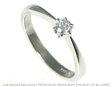 platinum simple and classic solitaire diamond engagement ring