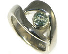 bespoke 18ct white gold dolphin inspired engagement ring