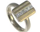 bespoke 18ct white gold and diamond engagement ring