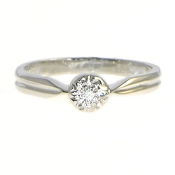 victorian inspired white gold and diamond engagement ring