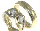 bespoke 9ct yellow gold wedding bands