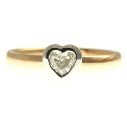 18ct rose gold heart shaped diamond engagement ring