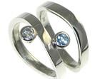 palladium engagement and wedding ring set