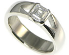 bespokeplatinum and asher cut 0.73ct d vs1 diamond engagement ring