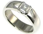 bespokeplatinum and asher cut 0.73ct d vs1 diamond engagement ring