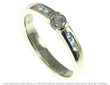 An ocean inspired engagement ring for a marine conservationist