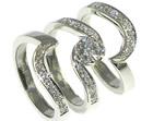 palladiumand diamond antique style engagement and wedding ring set
