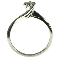 twist style platinum diamond solitaire engagement ring