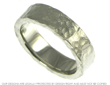 palladium 6mm wedding band with heavy roman matte finish
