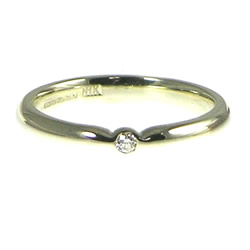 white gold simple solitaire diamond engagement ring