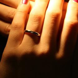 palladium solitaire engagement ring with 2mm princess cut diamond