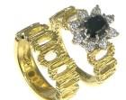 sheila's 18ct yellow gold wood grain finish wedding ring
