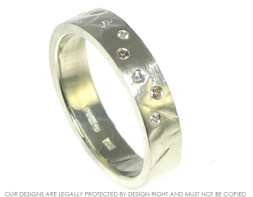 9ct white gold congnac and h si white diamond wedding or etenity ring