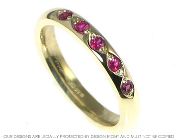 9ct yellow gold ruby eternity ring
