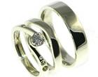 bespoke 9ct white gold engagement and wedding set