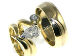 bespoke 18ct white gold and platinum engagement and wedding ring set
