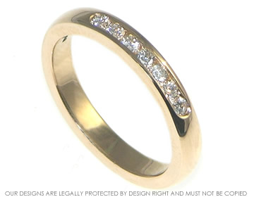 9ct rose gold and diamond eternity ring
