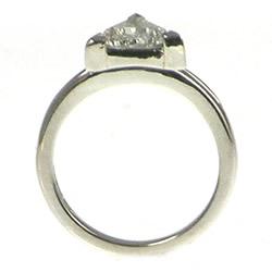 mountain inspired 1ct diamond solitaire palladium engagement ring