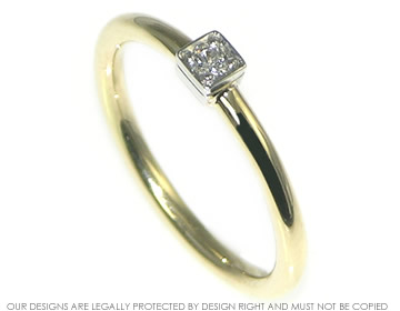 delicate and classic yellow gold diamond engagement ring